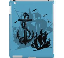 Pirate Ships & Anchor Black Silhouette iPad Case/Skin