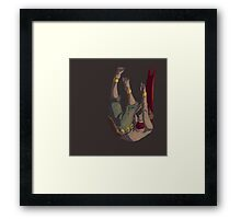 Note to self: fire burns. Framed Print