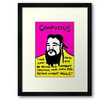 Pop folk art of Chinese philosopher Confucius Framed Print