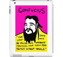 Pop folk art of Chinese philosopher Confucius iPad Case/Skin