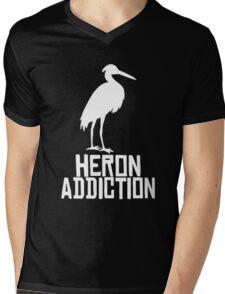 Heron Addiction Mens V-Neck T-Shirt