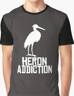 Heron Addiction Graphic T-Shirt