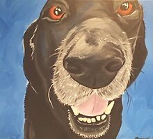 Russell the Black Lab by AmandaRuthArt