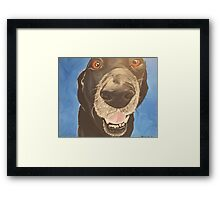 Russell the Black Lab Framed Print