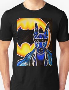 Doberman Super Hero Bat SuperHero Powerful Dog Breed Fun Happy Kids Room Unisex T-Shirt