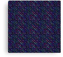 Retro Colored Dots Topaz Glow Canvas Print