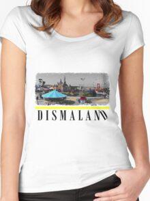 Dismaland Fan Art Women's Fitted Scoop T-Shirt