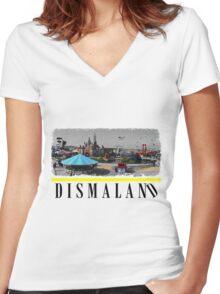 Dismaland Fan Art Women's Fitted V-Neck T-Shirt
