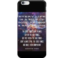 Good Things / Bad Things - Doctor Who iPhone Case/Skin