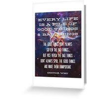 Good Things / Bad Things - Doctor Who Greeting Card