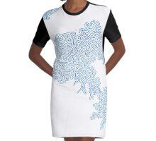 Squiggle Peninsula Graphic T-Shirt Dress