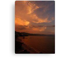 sunset's afterglow II - fosforescencia de atardecer Canvas Print