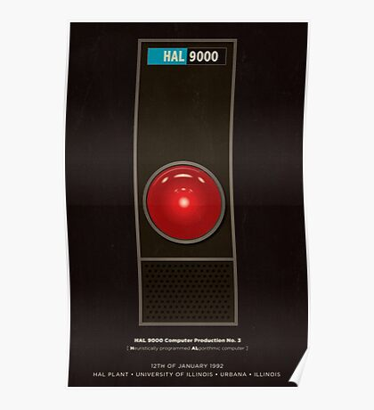 HAL 9000 computer from 2001 Poster