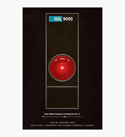 HAL 9000 computer from 2001 Photographic Print