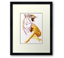 Inner Tiger Framed Print