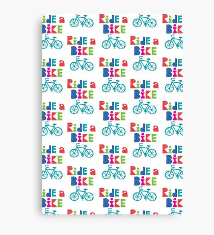 Ride a Bike Sketchy white  Canvas Print