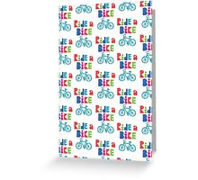 Ride a Bike Sketchy white  Greeting Card