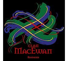 Clan MacEwan - Prefer your gift on Black/White tell us at info@tangledtartan.com  Photographic Print