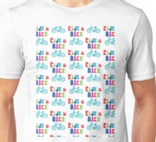 Ride a Bike Sketchy white  Unisex T-Shirt