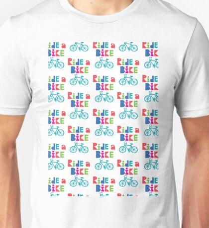 Ride a Bike Sketchy white  Unisex T-Shirt