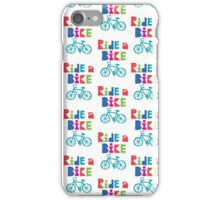 Ride a Bike Sketchy white  iPhone Case/Skin