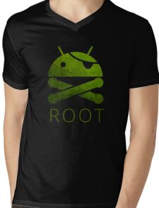 Root Android Mens V-Neck T-Shirt