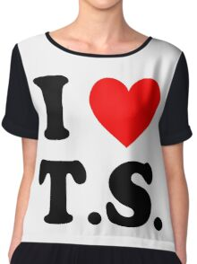 I Love T.S. Chiffon Top