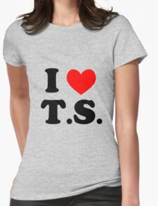 I Love T.S. Womens Fitted T-Shirt