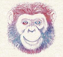 Chimpanzee Monkey Psychedelic by Zehda