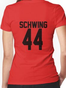 Schwing Jersey Women's Fitted V-Neck T-Shirt