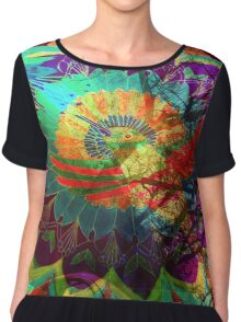 I'd rather be a hummingbird caged in your psychedelic heart Chiffon Top