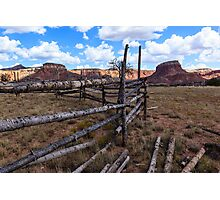 Horse Corral New Mexico Photographic Print