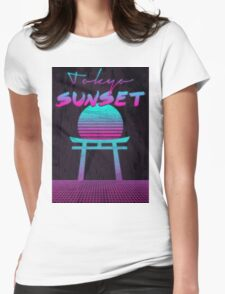 Tokyo Sunset Womens Fitted T-Shirt