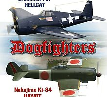 Dogfighters: F6F vs Ki-84 by Mil Merchant