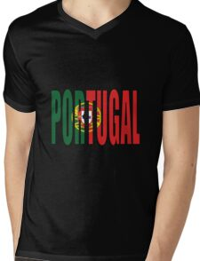 Portugal Mens V-Neck T-Shirt