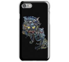 Dragon Cat Color on Black iPhone Case/Skin