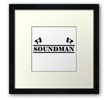 Soundman black Framed Print