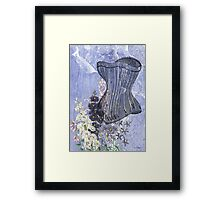 Lavender Purple Victorian Floral Steampunk Corset Framed Print