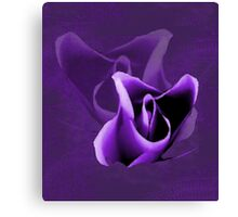 Bold Purple Abstract Flower Canvas Print