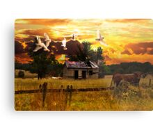 Rural Migration Metal Print