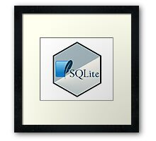 SQL lite hexagonal programming language  Framed Print