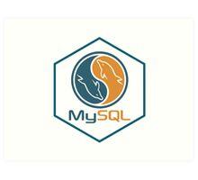 MYSQL hexagonal programming language sticker Art Print