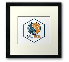 MYSQL hexagonal programming language sticker Framed Print
