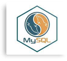 MYSQL hexagonal programming language sticker Metal Print
