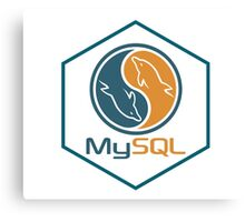 MYSQL hexagonal programming language sticker Canvas Print