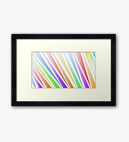 rainbow tiger stripes Framed Print
