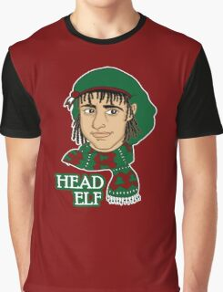 Head Elf - Red Graphic T-Shirt