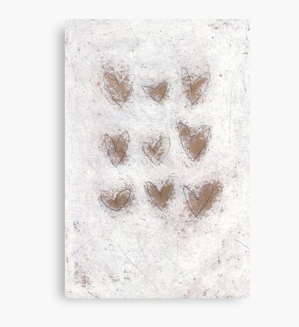 9 hearts Canvas Print