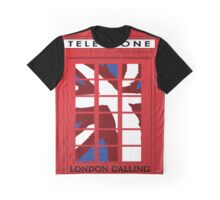 London Calling, Vintage Phone Booth, Union Jack Graphic T-Shirt