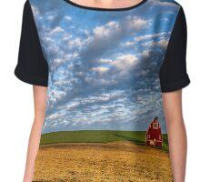 Palouse Country Barn with Dramtic Cloudscape Chiffon Top